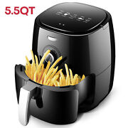 5.5 Qt Large Electric Hot Air Fryer Oven 1800w Oilless Cooker Non-stick Basket