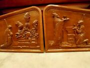 Pair Of Hand Carved Wood Church Altar Panels Architectural Salvage Abraham
