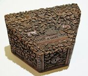 Antique Anglo Indian Sandalwood Hand Carved Box 80 Tantalizing Aroma