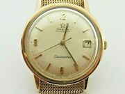 9ct 9k 375 Gold Omega Automatic Seamaster Watch 80 - Fully Working - Hallmarked