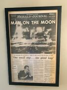 Man On The Moon -vintage July 21 1969 Front Page Newspaper- Pages In History