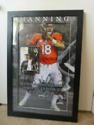 Hof Peyton Manning Poster Wall Hanging Collectible Autographed Signature Plate