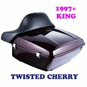 Twisted Cherry King Tour Pack Pak Fit 1997-2021 Harley Street Road Electra