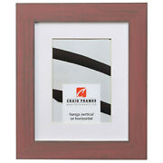 Craig Frames Jasper 1.25 Wide Rustic Faded Alabama Red Picture Frame With Mat