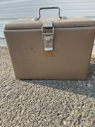 Little Brown Chest Antique Ice Box Chest Cooler - Hemp And Co. Metal Vintage