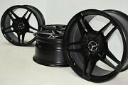 19 Mercedes Benz Cls63 E63 Cls550 Amg Factory Oem Wheels Rims Staggered Black