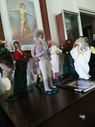 Byers Choice Lot Of 10 A Christmas Carolbob Cratchit /scrooge /spirits Etc