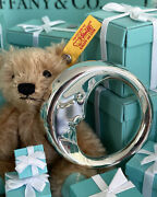 Tiffanyandco Man In The Moon Baby Rattle Tether Sterling Silver Shower Gift Pouch