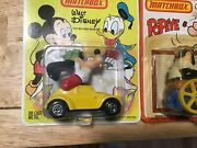 Vintage 16 Matchbox Walt Disney Characters And Popeye Series From 1979 Full Set