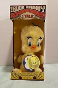 Tweety Bird 1971 Vintage Warner Bros Mighty Star Plush Talking With Tags And Box