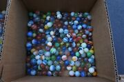 Vintage Large Mixed Glass Agate Marbles Lot Large And Small Multi-colors 6.6 Lbs