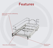Rev-a-shelf -0918cr-1 9x18 Single Cabinet Pull Out Wire Basket - New