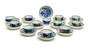12 Royal Worcester Dr. Wall England Porcelain Cup And Saucers In The Fence C1770