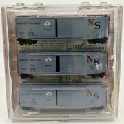 Micro-trains 33132 N Scale Ns 50and039 Standard Sliding Door Boxcar Pack Of 3 Ln