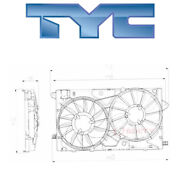 For Chevy Impala 2014-2018 Tyc 622790 Dual Radiator And Condenser Fan