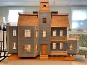 Large Victorian 12 Room Doll House. Hand Crafted In Maine