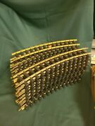 Aristocraft Brass Curved Track 24 Pieces Approx 16 Inch