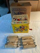 J. Chein And Company Usa Disneyland Melody Player With 9 Music Scrolls