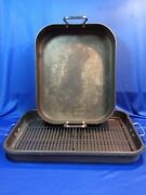 2 Calphalon Commercial Aluminum Roasting Pans 6816 And 1803
