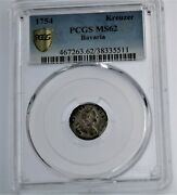 1754 Kreuzer Bavaria Pcgs Ms62-1 Of Only 2 Uncirculated In The World