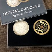 Magic Tricks Coin Visual Change Double Sided Magician Close For Kids Money Props