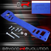 For Rsx / Civic Si Ep3 Rear Lower Subframe Reinforcement Brace Bar Blue Hardware