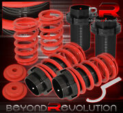 For 91-99 Sentra Adjust Lowering Spring Coilover Sleeves Jdm Vip Scaled Set Red