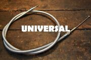 Universal Braided Stainless Steel Throttle Idle Cable 72 For Harley 47997