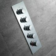 Thermostatic Shower Head Brass Wall Mounted Valve Multiple Function Knobs Taps