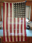 3and039 X 5and039 American Flag 48 Star 100 Wool Made Between Wwi 1912-1959
