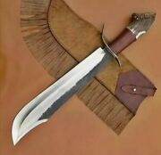 New Custom Handmade Carbon Steel Bowie Knife With Stag Horn Handle