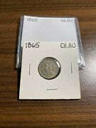 1865-p Three Cent Nickel 3cn Choice Almost Uncirculated Ch.au