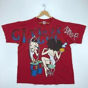 1996 Betty Boop Glamour Girl Vintage T-shirt Freeze 2xl Red All Over Print 90s