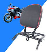 1pc Electric Motorcycle Scooter Bike Refitted Backrest Rear Tail Shelf Iron+pu