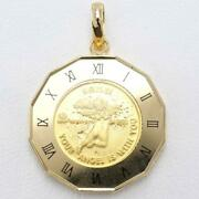 Pamp Angel 1/25oz Coin 24k Yellow Gold 18k Pendant Top Free Shipping Used