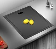Stainless Steel Sink With Cover Counter Lid Matte Black Hidden Modern Kitchen
