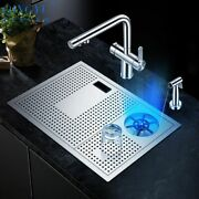 Stainless Steel Sink With Drainage Holes With Thermostatic Temperature Control