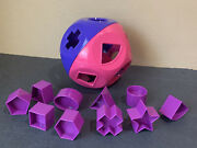 Tupperware New Shape-o Toy- In Purple And Pink Color-purple Shapes