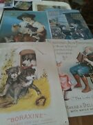 4 Vintage Style Repro Advertising Tin Signs , Boraxine,pearline Etc
