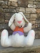 Vintage Rushton Plush Bunny Rabbit Toy Easter Collectible 20 Huge