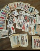 Lot Of 54 Butterick Sewing Patterns Uncut Factory Folded 2 See And Sew 1 Mccalland039s