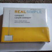 Real Simple Compact Carpet Sweeper Manual No Electricity New Sealed