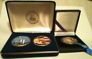 Twin Tower Coin Eagle Coin And Kennedy Half Dollar Painted