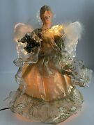 Trim A Home Magical Christmas Angel 15 Fiber Optic Lighted Animated Gold/white