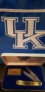 New Rare 1996 Kentucky Wildcats National Champions Case Xx Trapper- Stag Knife