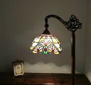 Style Floor Lamp Arched 62 Tall Stained Glass Living Room Bedroom Decor
