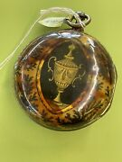 Antique Fusee Pocket Watch Tortoise /horn Painted Urn 1700andrsquos