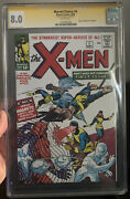 X-men 1 Cgc Ss 8.0 Signed By Stan Lee Replica Cover Rare 2008 Spanish Reprint