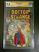 Doctor Strange 169 Cgc Ss 7.5 Signed By Stan Lee 1st Dr. Strangeand039s Own Comic