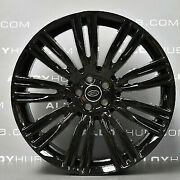24and039and039 Inch Wheels Gloss Black With Tires Fit Range Rover Hse Sport Lr3 Lr4 New